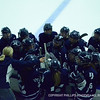 Andover girls' hockey circle up during a TO against BB&N.