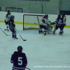Anna Fucillo '15 stops quick infront of net after taking a blocked shot.