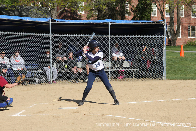 Co-captain Chung '13 sets up at the plate.