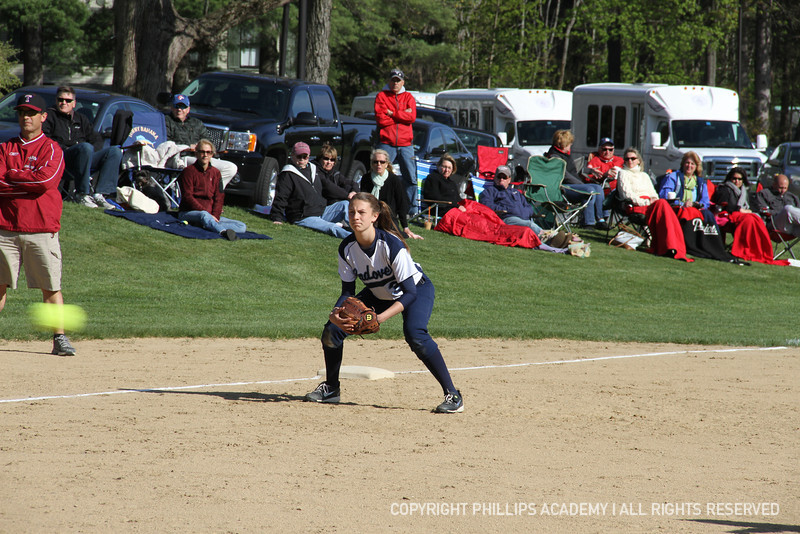 Anna Fucillo '15 steps in at third and did a great job!
