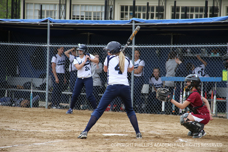 Sage Hunt '12 owns the plate as she hits a double and adds an RBI to her stats.
