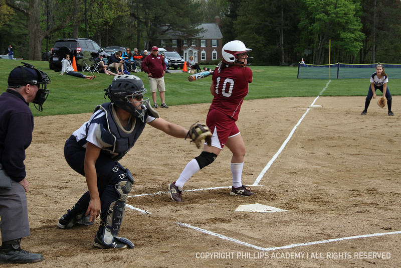 Nikki Pelletier '13 frames an outside pitch.
