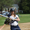 "Anna Fucillo '15 has a great eye and watches a ""ball"" go into the catcher's mitt."