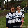 Co-captain Maloney '13 and teammate Kristin Mendez '13 smile for the camera.