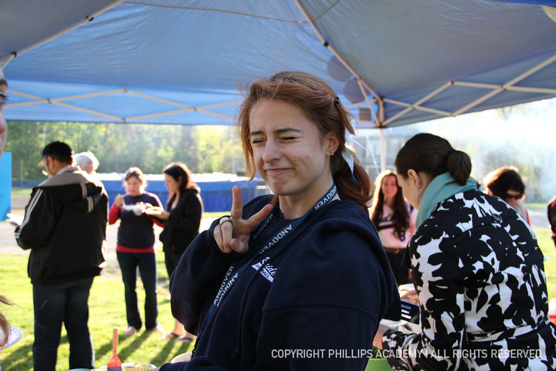 Laura Ippolito '14 enjoying her food at the cookout.