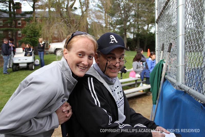 Assistant coaches Liz Walbridge and Doug Kuhlmann smile for the camera!