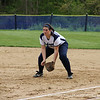 Caitlin Clancy '13 dominates first base.