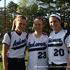 Hartung '14, Skwierczynski '12, and Clancy '13 smile for the camera.