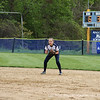 Kasey Hartung '14 gets down and ready in between pitches.
