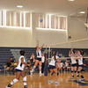 Andover leaps for the ball.