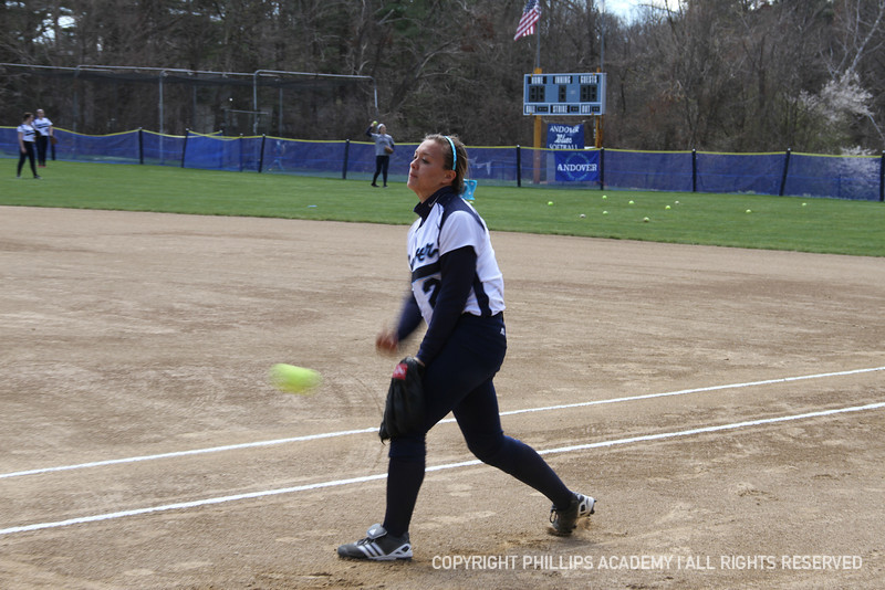 Co-captain Maloney '12 finishes her pitch.