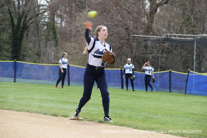 Kaplan '15 throws to first.