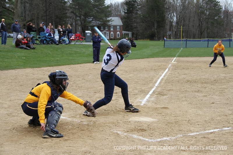 Bradford '15 follows through on her swing.