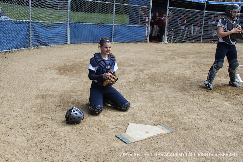 Bradford '15 sets up behind the plate.