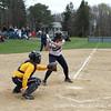 Kayla Thompson '15 triggers the bat.
