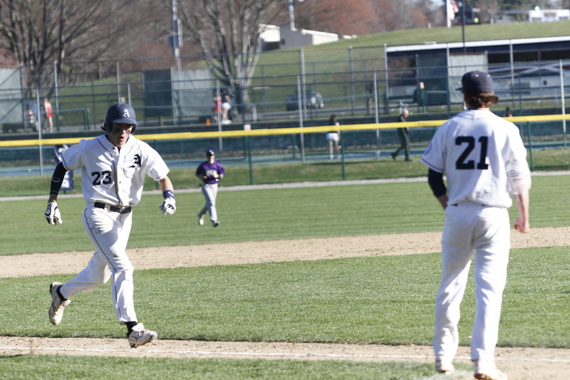 Chris Hohlstein '14 crushes the ball for a walk off homer to beat Cushing.