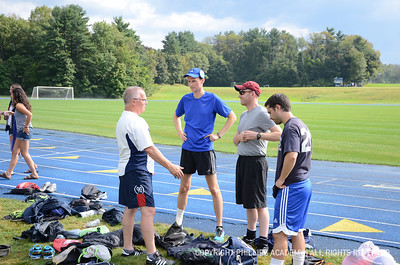 John Palfrey Practices with Boys Varsity Soccer