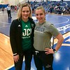 Two time Olympian, World Champion and New Jersey City University Head Women's Wrestling Coach Elena Pirozhkova (left) pictured with Kassie Archambault, Head Wrestling Coach at Phillips Academy and tournament founder/director (right).