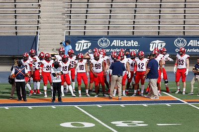 Dixie State football vs NMSU at Sun Bowl Stadium, Sunday, March 7, 2021, in El Paso, TX. Photo by Ivan Pierre Aguirre