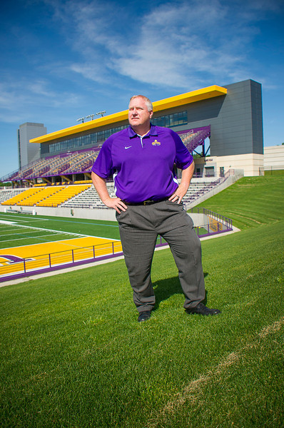 University at Albany Head Football Coach Greg Gattuso