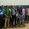 MassBay Men's Basketball team and Coaches Bill Raynor, Hakim Johnson, and Anderson Wise