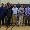 MassBay Men's Baseball team and Coaches Mike Minchoff, Robert Anderson, and Michael Swiderski