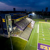 Tom & Mary Casey Stadium at night