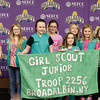 Broadalbin Girl Scouts are among several enjoying the post-game celebration.