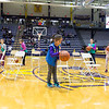 Halftime fun for local Girl Scouts includes a musical chairs contest.