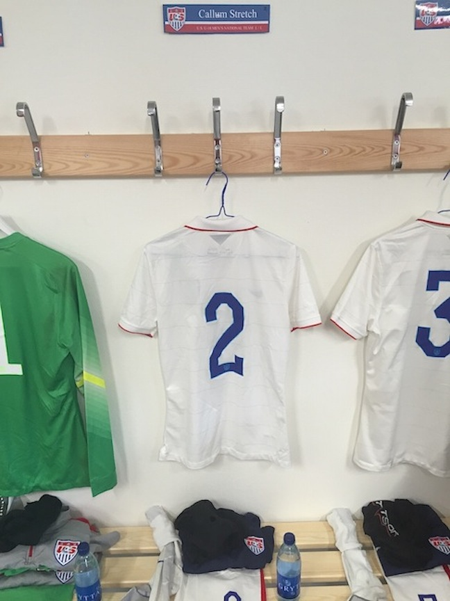 Callum Stretch '17 plays with the U-18 Men's National Soccer Team at the Nordic Cup in Sweden.