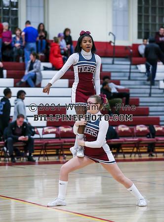 JV  Cheerleading at Basketball 02-08-19