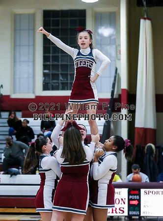 JV  Cheerleading at Basketball 02-13-19