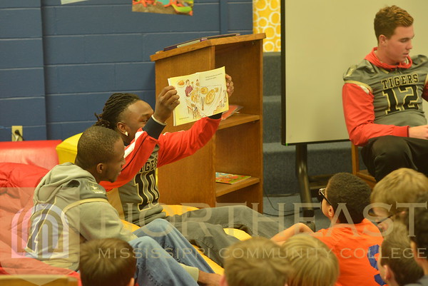 2014-11-18 FB Football Reading to Anderson Elementary