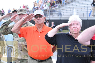 2018-09-13 FB Veterans On Field Recognition with Team