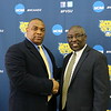 FVSU head football coach, Kevin Porter, pictured with FVSU president, Dr. Paul Jones