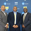 (L-r) FVSU athletics director, Dr. Joshua W. Murfree; head football coach, Kevin Porter and FVSU president, Dr. Paul Jones