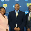 (L-r) State Rep. Patty James Bentley; FVSU head football coach, Kevin Porter; and FVSU president, Dr. Paul Jones