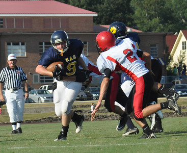 Varsity Football vs Aaron Academy 2011