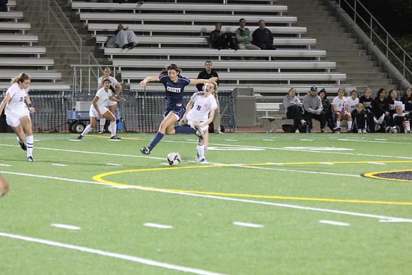 Notre Dame HS Girls Soccer v. HW 1-25-12