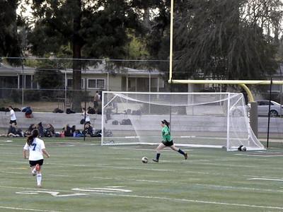 Girls JV Soccer v. Louisville 1-27-14
