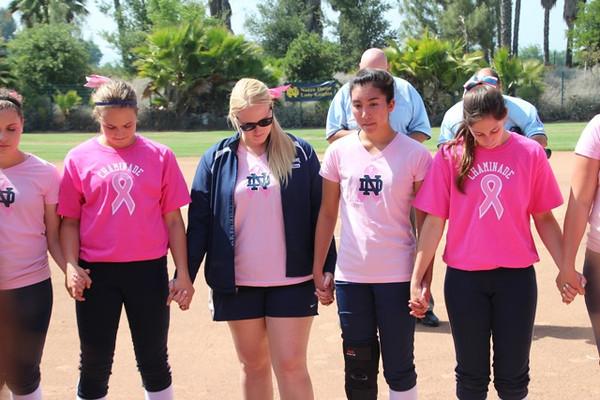 Softball Cancer Awareness Game 4-30-13