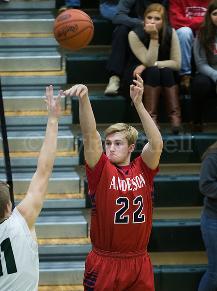 Dylan Buell | dylanphotog@gmail.com | @dylanphotog<br /> Dillon Harper #22 of the Anderson County Bearcats attempts a shot during the game at Lapsley Cardwell Gym Monday night.