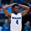 "Dylan Buell | dylanphotog@gmail.com | @dylanphotog<br /> Chase Cavanaugh #4 of the Kentucky Country Day Bearcats reacts during the All ""A"" Tournament at the Frankfort Convention Center Thursday."