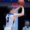 "Dylan Buell | dylanphotog@gmail.com | @dylanphotog<br /> Hayden Kraus #3 of the Kentucky Country Day Bearcats attempts a shot during the All ""A"" Tournament at the Frankfort Convention Center Thursday."