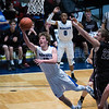 "Dylan Buell | dylanphotog@gmail.com | @dylanphotog<br /> Colin Ferguson #12 of the Kentucky Country Day Bearcats goes up for a layup during the All ""A"" Tournament at the Frankfort Convention Center Thursday."