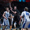 "Dylan Buell | dylanphotog@gmail.com | @dylanphotog<br /> Vince Toftness #11 of the Owen County Rebels attempts a shot during the All ""A"" Tournament at the Frankfort Convention Center Thursday."