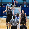 """Dylan Buell   dylanphotog@gmail.com   @dylanphotog<br /> Carson Williams #23 of the Owen County Rebels takes the tip during the All """"A"""" Tournament at the Frankfort Convention Center Thursday."""