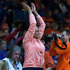 "Dylan Buell | dylanphotog@gmail.com | @dylanphotog<br /> Frankfort fans cheer during the All ""A"" Tournament at the Frankfort Convention Center Friday."