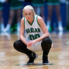 "Dylan Buell | dylanphotog@gmail.com | @dylanphotog<br /> Jordan Brock #00 of the Harlan Dragons rests during the All ""A"" Tournament at the Frankfort Convention Center Friday."