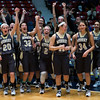 "Dylan Buell | dylanphotog@gmail.com | @dylanphotog<br /> Murray celebrates after winning the All ""A"" Classic Championship at the Frankfort Convention Center Sunday."